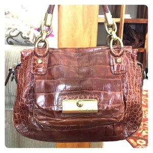 💕 Coach brown leather medium beautiful satchel 💕